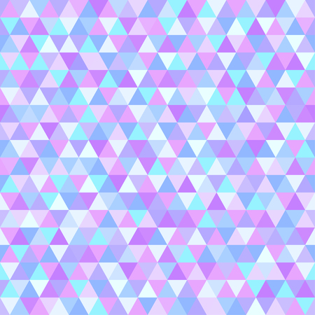 Seamless triangle pattern. Abstract geometric wallpaper of the surface. Tiled background. Light colors. Print for polygraphy, posters, t-shirts and textiles. Mosaic texture. Doodle for design Иллюстрация