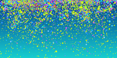 Multicolored сonfetti on isolated background. Bright explosion. Colored firework. Geometric texture with colorful glitters. Image for banners, posters and flyers. Greeting cards Ilustração
