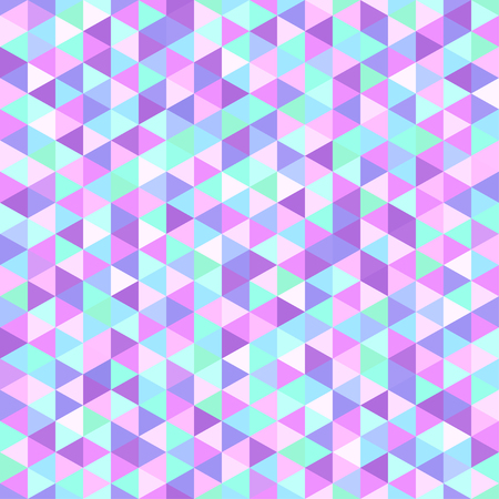 Seamless triangle pattern. Abstract geometric wallpaper of the surface. Tiled background. Print for polygraphy, posters, t-shirts and textiles. Mosaic texture Illustration