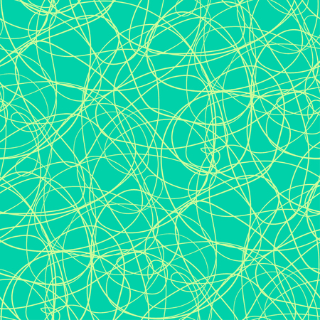 Chaos pattern. Wavy background. Hand drawn waves. Seamless tangled wallpaper. Stripe texture with many lines. Print for banners, flyers or posters. Line art 向量圖像