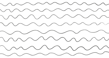 Pattern with lines and waves. Universal texture. Abstract dinamic background. Doodle for design. Lineal wallpaper. Print for polygraphy, t-shirts and textiles. Decorative style. Line art creation Illustration