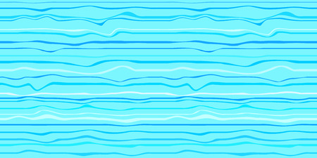 Seamless nautical wallpaper of the surface. Wavy sea background. Pattern with lines and waves. Multicolored texture. Decorative style. Doodle for design