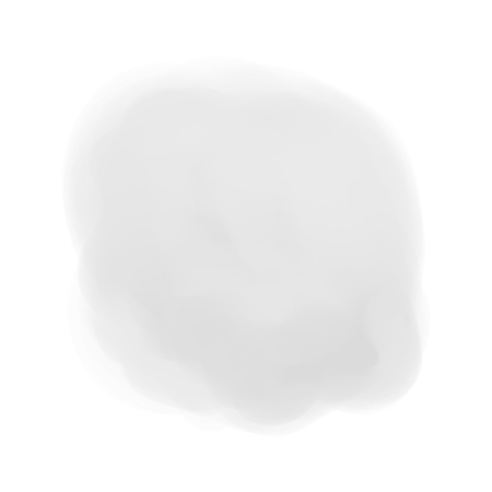 Watercolor spot on white. Digital aquarelle blotch on isolated background. Light blur stain. Hand drawn backdrop for design and work. Black and white illustration Illustration