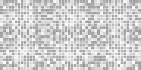 Checkered pattern. Tile background. Seamless abstract texture with many squares. Geometric mosaic wallpaper. Doodle for flyers, shirts and textiles. Line backdrop. Black and white illustration  イラスト・ベクター素材