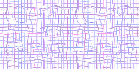 Seamless abstract pattern. Checkered multicolored background with lines and waves. Colorful geometric texture. Dinamic colored backdrop. Lineal wallpaper. Decorative style. Line art creation