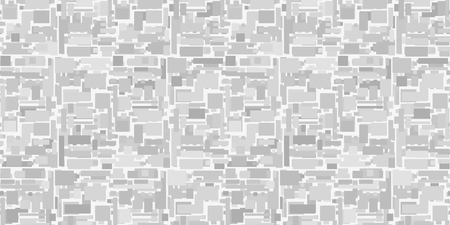 Polygonal background. Multicolored tile backdrop. Seamless abstract texture with different shapes. Geometric wallpaper. Image for your business. Black and white illustration