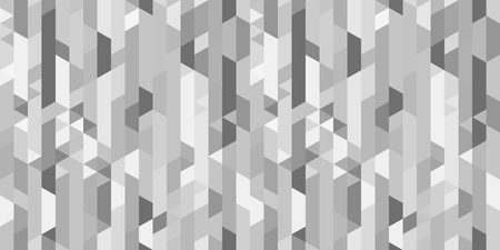 Polygonal background. Stripe pattern. Multicolored tile backdrop. Seamless abstract texture. Geometric wallpaper with stripes. Image for business. Black and white illustration