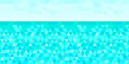 Nautical background from triangles. Seamless wallpaper on horizontally surface. Pattern with lines. Multicolored tiled texture. Abstract sea backdrop. Colorful illustration. Decorative style Vettoriali