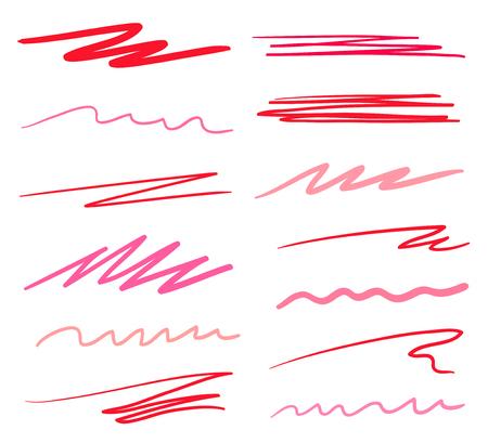 Sfondi colorati con array di linee. Crea sfondi caotici. Modelli disegnati a mano. Illustrazione colorata. Elementi per poster e volantini