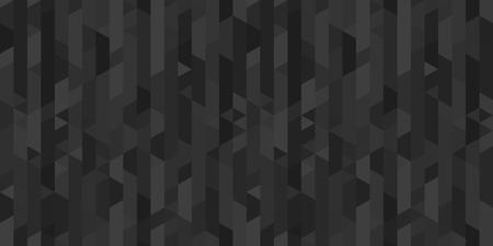 Papel pintado de mosaico de la superficie. Fondo de azulejos. Patrones poligonales sin fisuras. Impresión para poligrafía, carteles, pancartas y textiles. Textura única. Doodle para el trabajo. Ilustración en blanco y negro