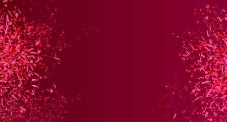 Confetti op donkere achtergrond. Heldere explosie. Vuurwerk. Textuur met kleurrijke glitters. Patroon voor werk. Afdrukken voor banners, posters en flyers. Wenskaarten. Doodle voor ontwerp en zaken