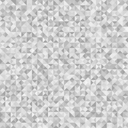 Modello piastrellato da triangoli. Trama astratta senza soluzione di continuità. Fondo multicolore del triangolo. Carta da parati geometrica. Stampa per volantini, striscioni e tessuti. Scarabocchio per il design. Illustrazione in bianco e nero Vettoriali