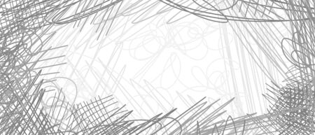 Abstract сhaotic texture. Monochrome wallpaper. Hand drawn dinamic scrawls. Black and white illustration