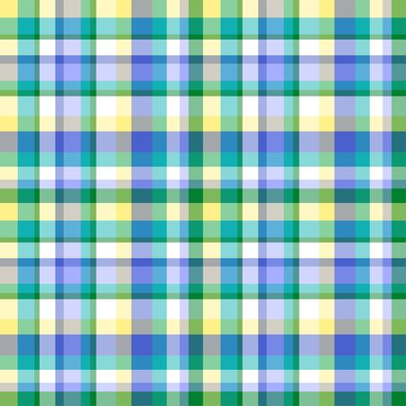 Seamless multicolored pattern. Checkered texture. Geometric colored texture with stripes. Print for fabrics