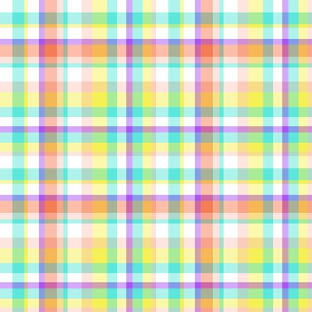 Seamless multicolored pattern. Checkered texture with many lines. Geometric colored wallpaper with stripes. Print for fabrics 向量圖像