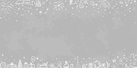 Hand drawn christmas background. Abstract chalkboard. Merry christmas Ilustrace