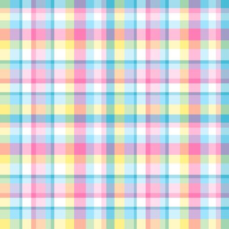 Seamless multicolored pattern. Checkered texture with many lines. Geometric colored wallpaper with stripes. Print for fabrics Ilustrace