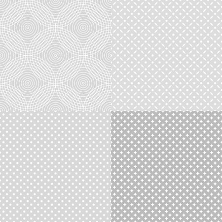 Set of seamless backgrounds. Starry pattern. Dotted wallpaper of the surface. Abstract background. Black and white illustration