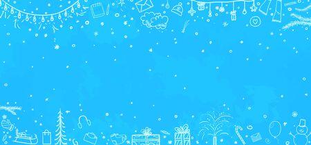 Fondo de navidad dibujado a mano. Pizarra de Navidad abstracta