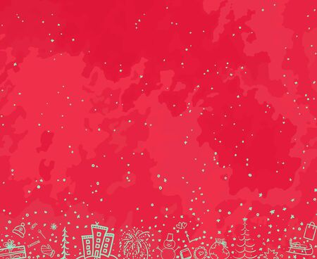 Hand drawn christmas background. Sketchy xmas elements. Abstract chalkboard. Happy New Year