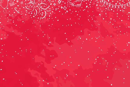 Hand drawn christmas background. Happy New Year. Sketchy background with holiday elements