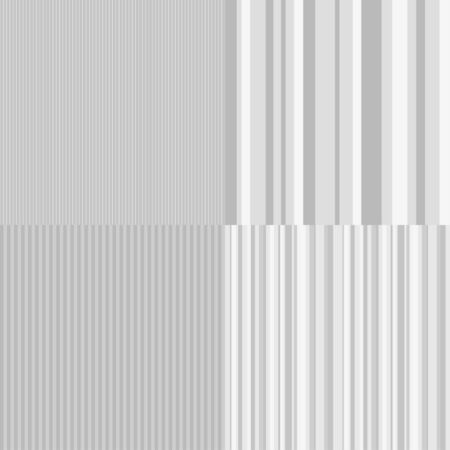 Set of seamless stripe patterns. Geometric lined wallpapers. Striped background. Black and white illustration
