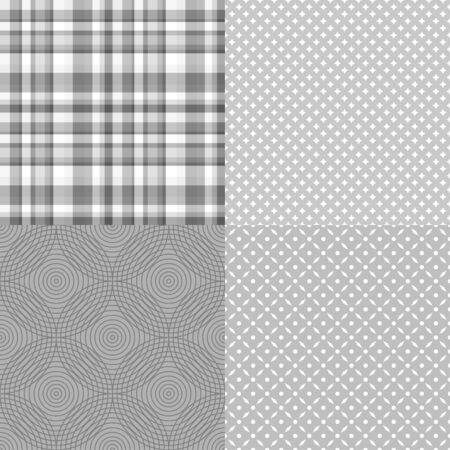 Set of seamless backgrounds. Starry pattern. Dotted wallpaper of the surface. Checkered background Ilustrace