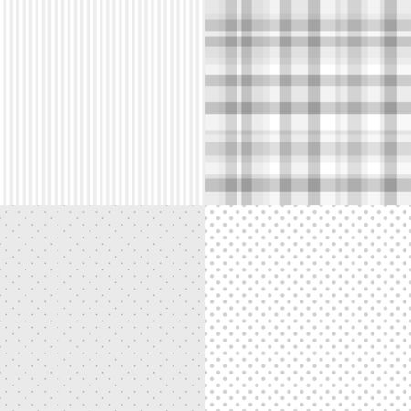 Set of seamless backgrounds. Stripe pattern. Abstract dotted wallpaper. Prints for your design Ilustrace