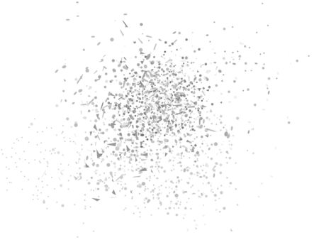 Confetti on white background. Doodle for your design. Black and white illustration