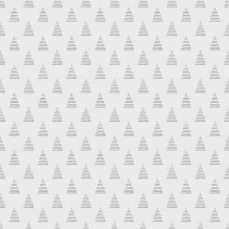 Seamless pattern with christmas trees. Print for design. Black and white illustration Stock Illustratie