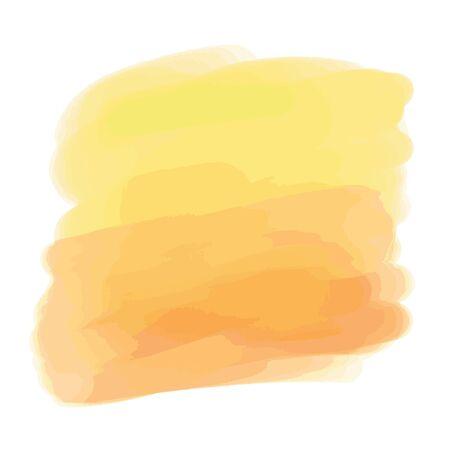 Colorful digital watercolor spot on isolated white background. Painted blot. Colored aquarelle splotch Ilustração