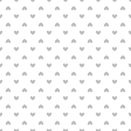 Background with hearts. Seamless monochrome wallpaper on surface. Black and white illustration Çizim