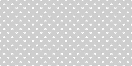 Background with hearts. Seamless monochrome wallpaper. Black and white illustration