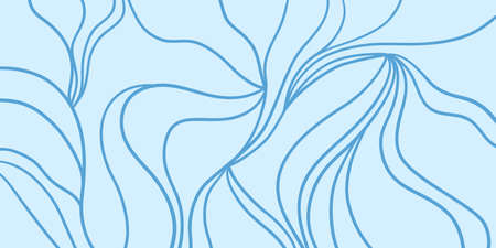 Wavy background. Hand drawn abstract waves. Stripe texture with many lines. Waved pattern