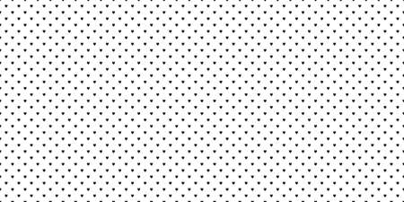 Hand drawn background with hearts. Seamless wallpaper on surface. Black and white illustration
