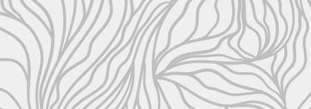 Waved background. Hand drawn wavy lines. Black and white wallpaper Illusztráció