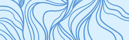 Hand drawn wavy background. Abstract waves. Waved pattern