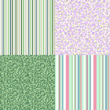 Seamless patterns. Abstract colored background. Seamless geometric texture from triangles Illusztráció
