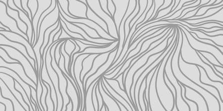 Monochrome wave pattern. Wavy background. Hand drawn waves. Doodle for design. Black and white wallpaper