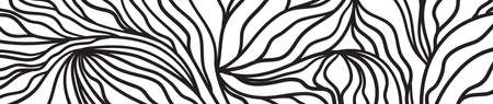 Pattern with waves. Wavy background. Black and white illustration