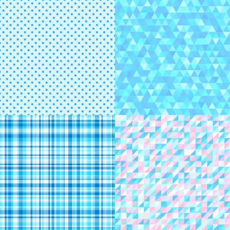 Set of colorful geometric patterns. Seamless textures. Prints for your design