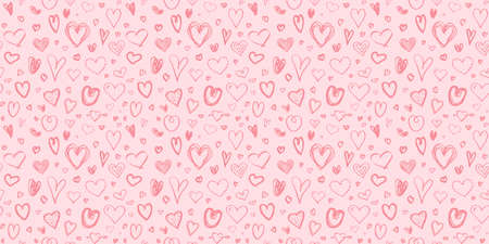 Colored pattern with hearts. Seamless texture. Print for your design. Valentine's day Ilustração