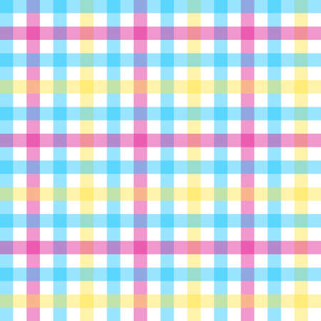 Seamless colored pattern. Checkered colorful pattern. Doodle for design. Vintage and retro style 向量圖像