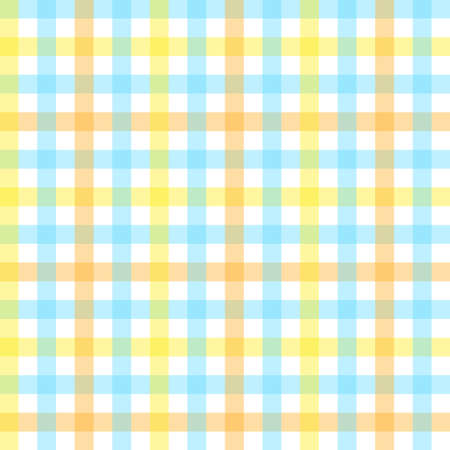Checkered seamless pattern. Abstract geometric wallpaper of the surface. Pastel colors. White, yellow and blue stripes