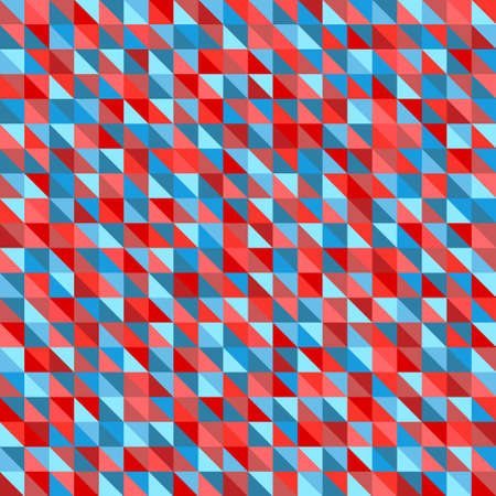Seamless triangle pattern. Multicolored tile background. Checkered geometric wallpaper of the surface. Bright colors. Print for polygraphy, t-shirts and textiles. Doodle for design 向量圖像