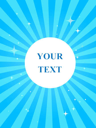 Blue doodle. Geometric layout with your text