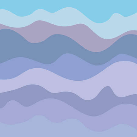 Pattern with lines and waves. Multicolored wavy texture. Abstract dinamic background. Cold colors. Doodle for design 向量圖像