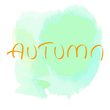 Aquarelle blot on isolated white background. Watercolor art. Autumn