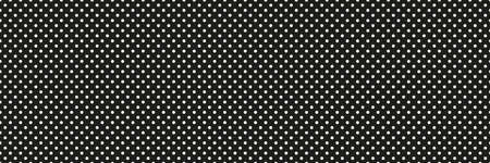 Seamless dotted background. Abstract dot texture. Polka pattern. Banner design. Black and white illustration