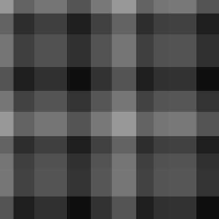 Seamless pattern. Checkered monochrome background. Abstract cloth texture. Print for textiles. Black and white illustration 矢量图像